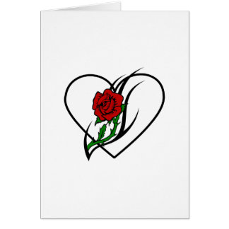 Red Rose Tattoo Stationery Note Card