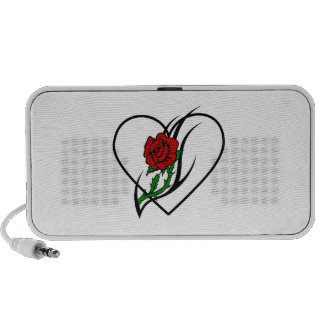 Red Rose Tattoo Travel Speakers