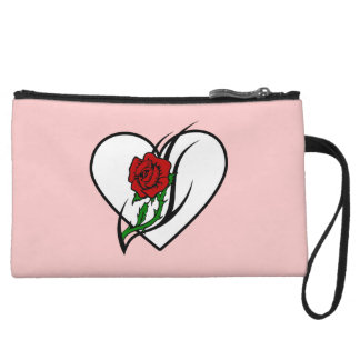 Red Rose Tattoo Wristlet Clutches