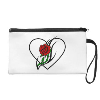 Red Rose Tattoo Wristlet Purse