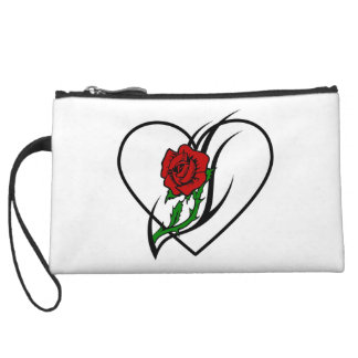 Red Rose Tattoo Wristlet Purses