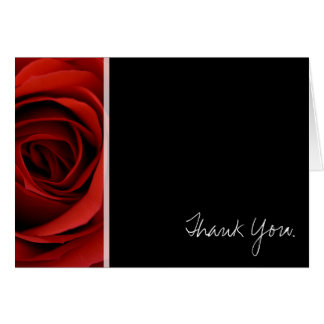 Red Rose - Thank You Stationery Note Card