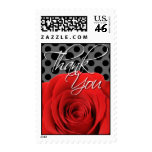 Red Rose Thank You Postage