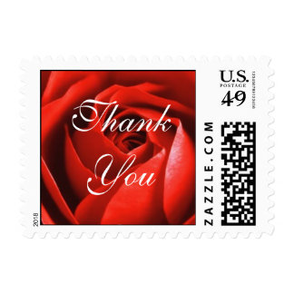 Red Rose, Thank You Postage Stamp