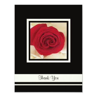 Red Rose Thank You Wedding Invitation Card