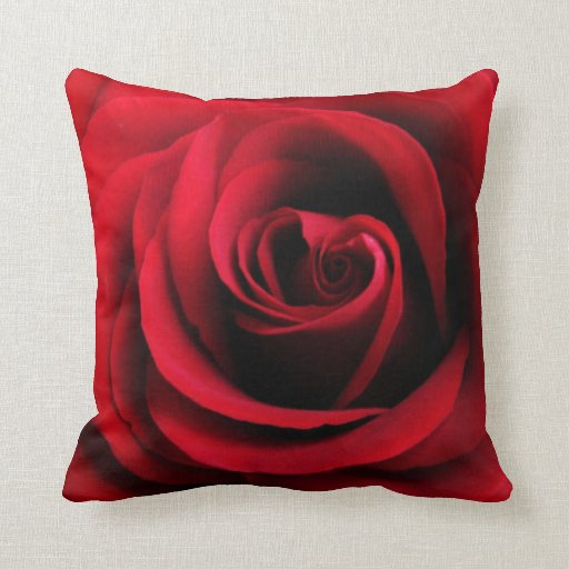 Red Rose Decorative Pillow : Red Rose Throw Pillow Zazzle