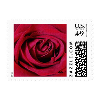 Red Rose Tiled Small Stamp