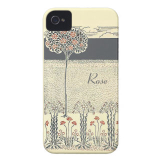 Red Rose Tree And Garden iPhone 4/4S Barely There iPhone 4 Case-Mate Case