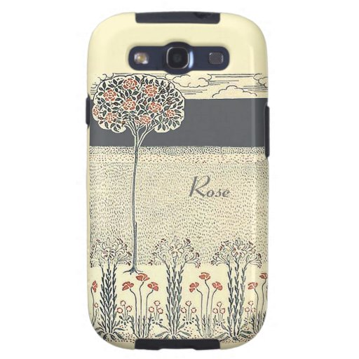 Red Rose Tree And Garden Vintage Samsung Galaxy S3 Samsung Galaxy SIII Cases