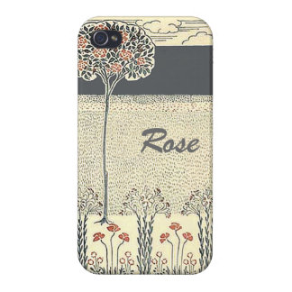 Red Rose Tree Rose Garden on iPhone 4 iPhone 4/4S Cases