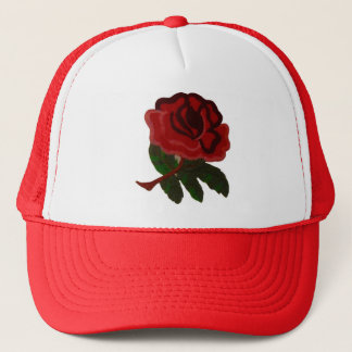 RED ROSE. TRUCKER HAT