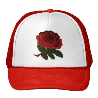 RED ROSE. TRUCKER HAT