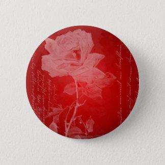 Red Rose Valentine Button