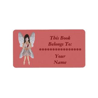 Red Rose Valentine Fairy Label