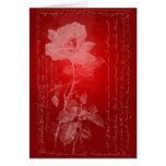 Red Rose Valentine Greeting Card