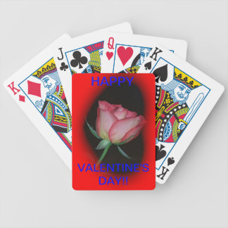 Red Rose Valentine's Day PLAYING CARD'S Bicycle Playing Cards
