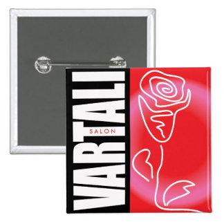 Red Rose Vartali Square Button