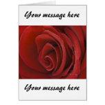 Red Rose Vertical Card