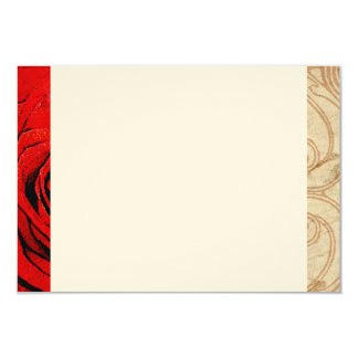 Red Rose Vintage Wedding Thank You Note Card