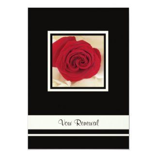 Red Rose Vow Renewal Invitation Personalized Announcements