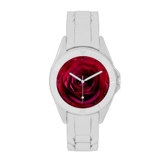 Red Rose Watch Romantic Red Rose Wrist Watches