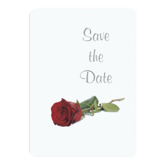 Red Rose Wedding Day Theme Save the Date Card