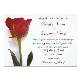 Nice Red Rose Wedding Invitation