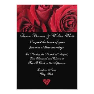 Lovely Red Rose Wedding Invitation