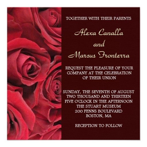 rose wedding invitation background - photo #9