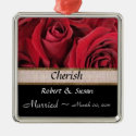 Red Rose Wedding Keepsake Ornament
