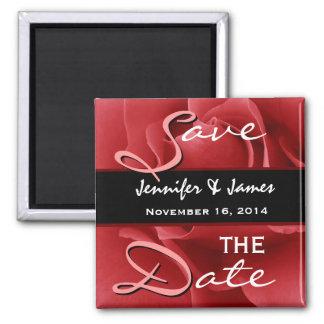 Red Rose Wedding Magnets