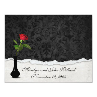 Red Rose Wedding Open House Card