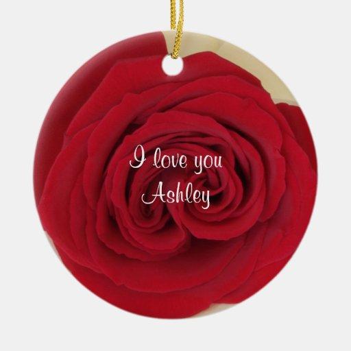Red Rose Wedding Proposal Idea Ornament