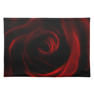 Red Rose wedding reception Placemat