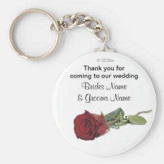 Red Rose Wedding Souvenirs Keepsakes Giveaways Keychain