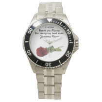 Red Rose Wedding Souvenirs Keepsakes Giveaways Wristwatch