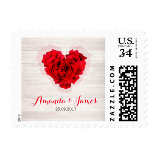 Red rose wedding stamp hhn01