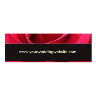 Red rose wedding website card business card templates