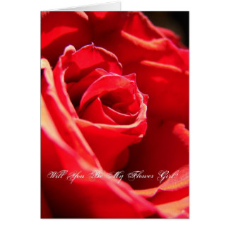 Red Rose, Will You Be My Flower Girl? Card