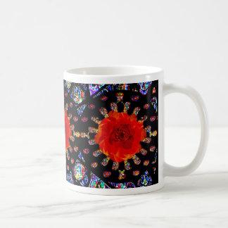 Red Rose Windows Coffee Mug