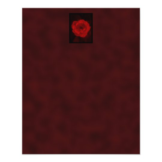 Red Rose. With Black and Deep Red. Flyer
