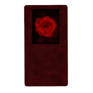 Red Rose. With Black and Deep Red. Label