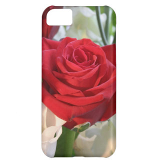 Red Rose with Garden Background iPhone 5C Covers