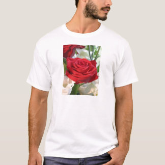 Red Rose with Garden Background T-Shirt