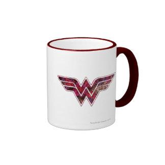 Red Rose WW Ringer Coffee Mug
