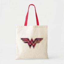 wonder woman, floral, cute, girly, ww symbol, dc comics, heroine, super hero, Bag with custom graphic design