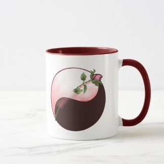 Red Rose yin yang Mug