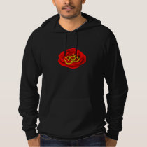 Red Rose Yoga Om on Yellow Hoodie