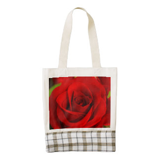 Red Rose Zazzle HEART Tote Bag