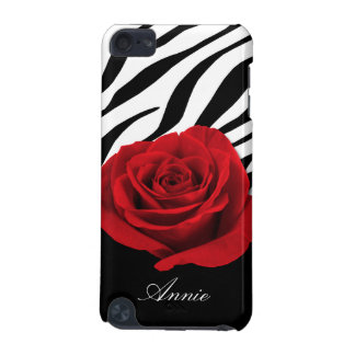 Red Rose Zebra Print personalized iPod Touch 5G iPod Touch 5G Cover